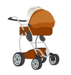 Colorful of baby stroller vector