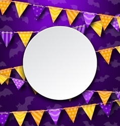 Clean Card with Colorful Bunting vector image