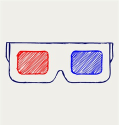 3-D Glasses vector image