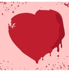 Hand drawn red heart vector