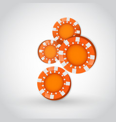 Falling poker chips vector