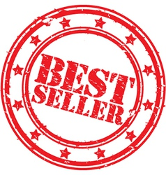 best seller stamp vector image