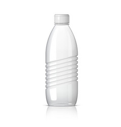 Realistic plastic bottle for water vector