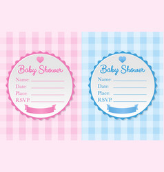 baby shower set vector image