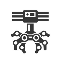 Robotic claw machine icon vector
