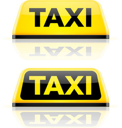 Taxi car roof sign vector image