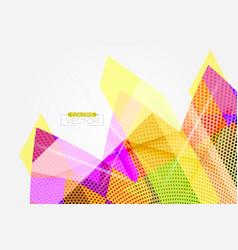 Translucent colorful shape scene vector