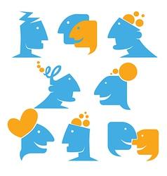talking and thinking vector image