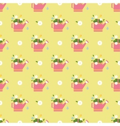 Flat flower vintages eamless patterns vector