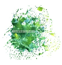 Watercolor background with splashes vector