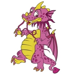 Smiling red dragon vector