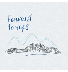 Poster forward to tops mountains logo vector