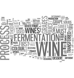 A taste of wine text word cloud concept vector