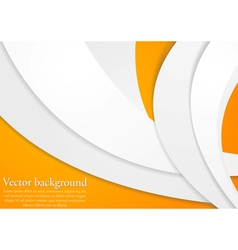 Abstract paper waves design vector image vector image
