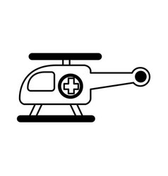 ambulance helicopter isolated icon vector image