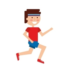 athlete running character icon vector image
