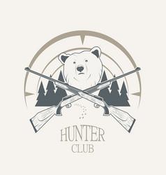 bear and gun vector image vector image