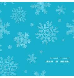 Blue lace snowflakes textile frame corner pattern vector