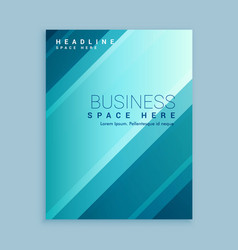 Business brochure template with blue stripes vector