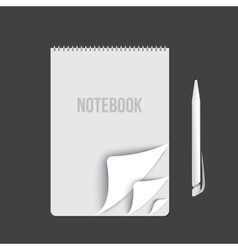 Business notebook isolated on dark background vector image vector image