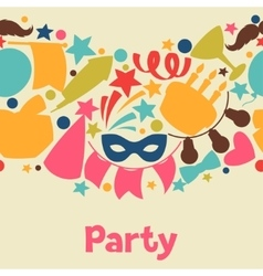 Carnival show and party seamless pattern with vector image vector image
