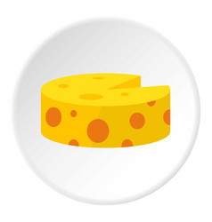 Cheese icon circle vector