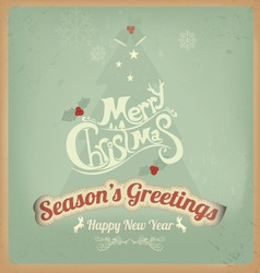 Christmas Greeting Card Have a Very Merry vector image