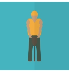 Construction worker flat icon vector