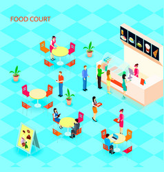 fast food isometric icon set vector image