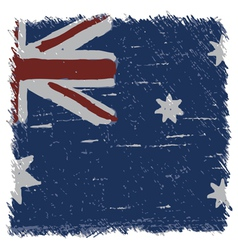 Flag of Australia handmade square shape vector image