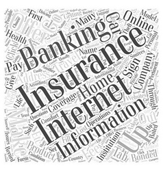 Getting insurance through internet banking vector