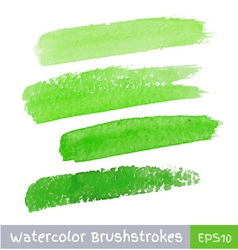 Green watercolor brush strokes for your design vector