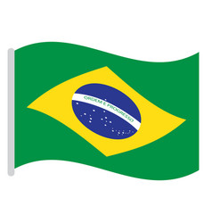 Isolated brazilian flag vector