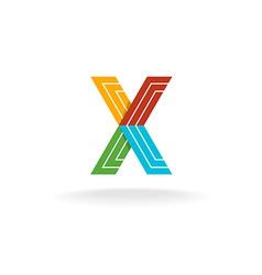 Letter X technology logo vector image vector image