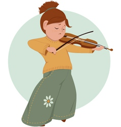 Little girl playing violin vector image vector image
