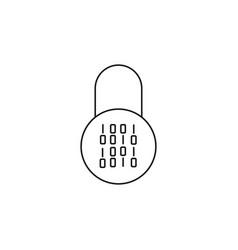 Locker password zero one icon vector