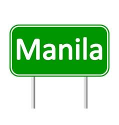 Manila road sign vector