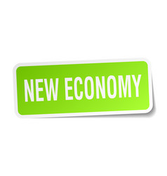 New economy square sticker on white vector