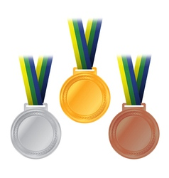 Olympic medals rio brazil vector