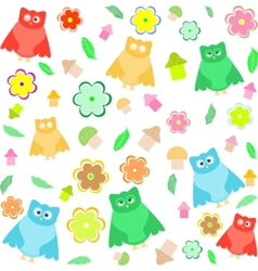 owl seamless vector image vector image