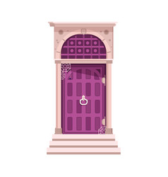 Porch and door with spider web vector