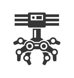 Robotic claw machine icon vector