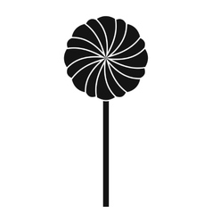 Round candy icon simple style vector image vector image