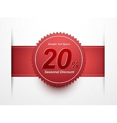 seasonal discount label vector image