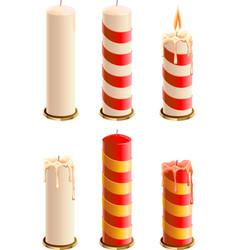 Set christmas candle vector
