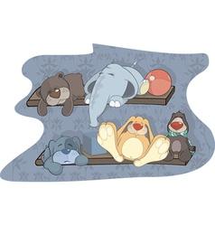 Sleeping toys vector