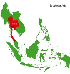 Thailand map vector image