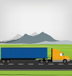 Truck on the road vector image vector image