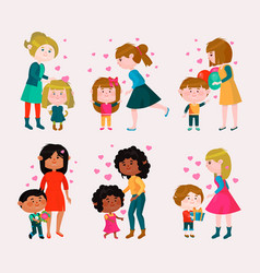 valentines day loving family mothers day vector image vector image