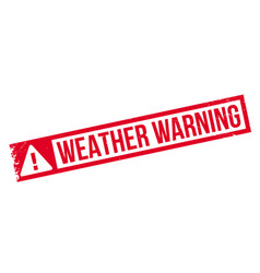 weather warning rubber stamp vector image